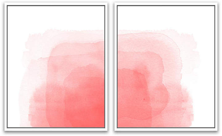 Rose All Day Diptych - Jennifer Latimer - 24.5