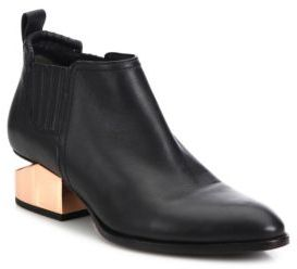 Alexander Wang Kori Metal Tilt-Heel Leather Booties