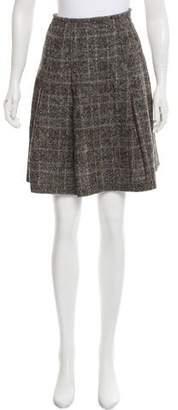 Brunello Cucinelli GUNEX x Plaid Knee-Length Skirt