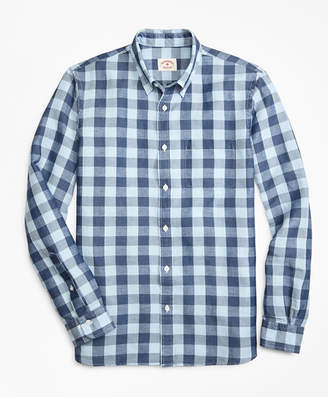 Brooks Brothers Gingham Linen-Blend Sport Shirt