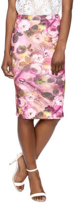Moa Floral Pencil Skirt