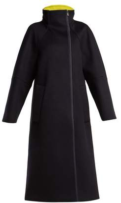 Sportmax Wool Blend Coat - Womens - Navy Multi