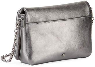 Halston Grace Small Metallic Leather Clutch Bag 9ba194fc3d3fd