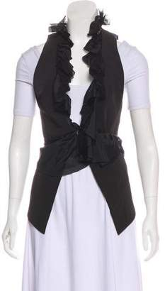 Elizabeth and James Silk-Accented Ruffled Vest