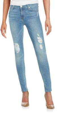7 For All MankindGwenevere Distressed Skinny Jeans