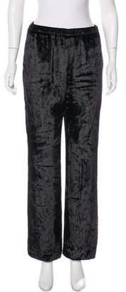 Tamara Mellon Velvet Wide-Leg Pants