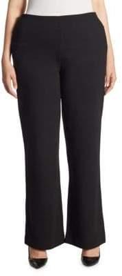 Joan Vass Plus Ponte Bootcut Pants