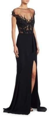 Pamella Roland Lace Cutwork Gown