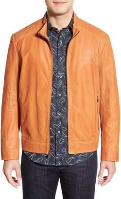 Men's Missani Le Collezioni Paneled Nubuck Leather Jacket $599 thestylecure.com
