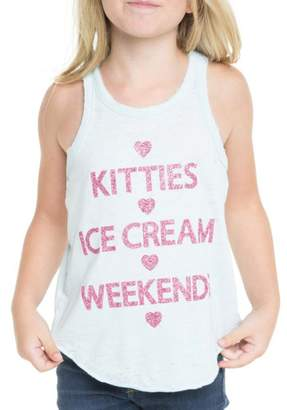 Chaser Youth Girl's Kitties, Ice Cream, Weekends Tank
