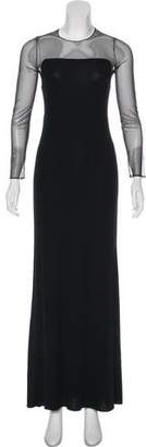 Donna Karan Long Sleeve Maxi Dress
