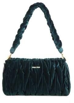 Miu Miu Matelasse Velvet Shoulder Bag