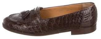 a7cbcba8a01 Mezlan Crocodile Tasseled Loafers