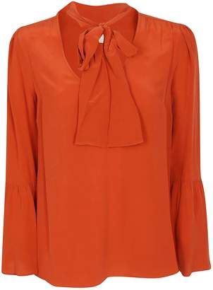 Michael Kors Loose Fit Bow-detailed Blouse