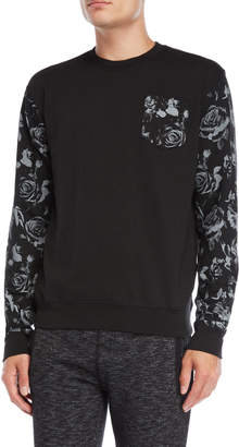 Fresh Brand Printed Sleeves & Chest Pocket Sweatshirt