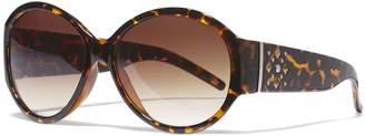 Icon Opaque Round Black Sunglasses