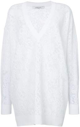 Givenchy floral lace oversized jumper
