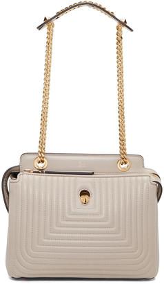 Fendi Grey Small Dotcom Click Bag $2,450 thestylecure.com
