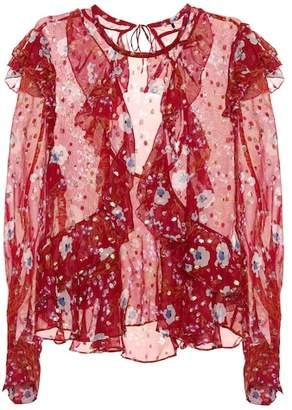 Isabel Marant Ruffled floral-printed blouse
