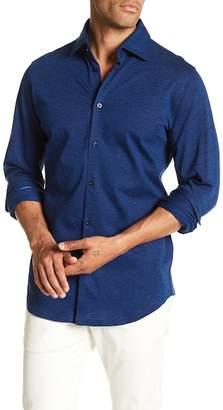 Stone Rose Slub Knit Slim Fit Shirt