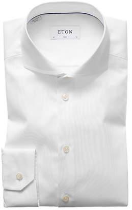 Eton Men's Slim-Fit Twill Dress Shirt with Cutaway Collar
