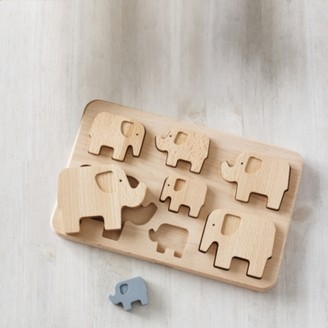 The White Company Elephant Puzzle, Natural, One Size