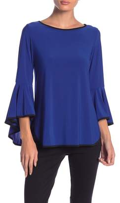 COCO BIANCO Cascading Bell Sleeve Top