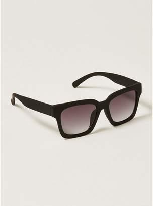 Topman Mens Black Chunky Sunglasses