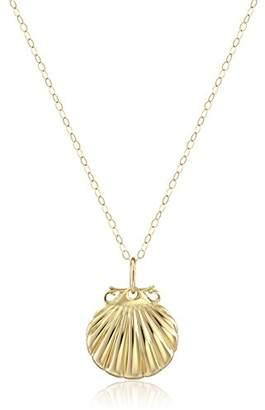 14k Yellow Small Sea Shell Pendant Necklace