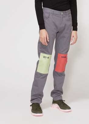 Raf Simons Regular Fit Patch Jeans