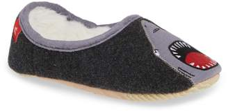 Joules Applique Mule Slipper with Faux Fur Lining