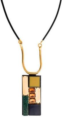 Marni Rectangular Pendant Necklace