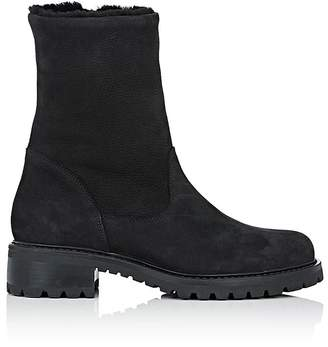 Barneys New York Women's Shearling-Lined Side-Zip Ankle Boots
