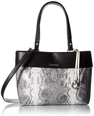 Calvin Klein womens Patty Exotic Faux Leather East/West Tote