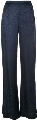 Jonathan Simkhai animal print flared trousers