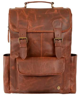 Mahi Leather The City Backpack In Distressed Brown Leather