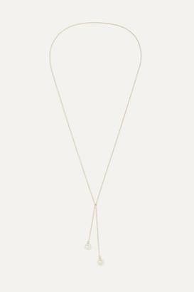 Mateo - 14-karat Gold Pearl Wrap Necklace