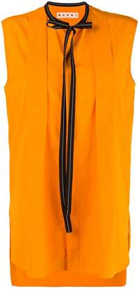 Marni neck tie sleeveless blouse
