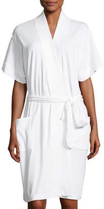 P Jamas Butterknit Short Wrap Robe
