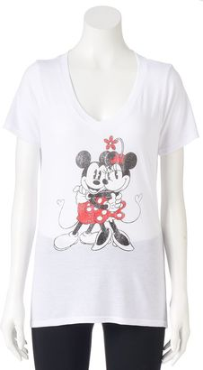 Disney's Juniors' Mickey & Minnie Mouse Hug Graphic Tee $20 thestylecure.com