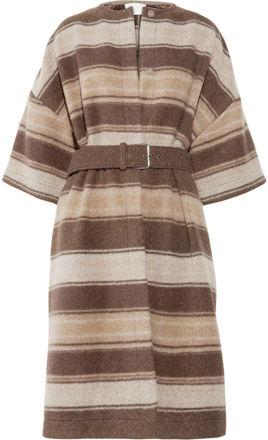 Chloé Striped wool-blend coat