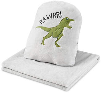 Jla Home Urban Dreams Dusty The Dino 3-in-1 Hand-Warmer Pillow & Throw
