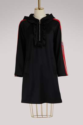 Gucci Hooded jersey dress