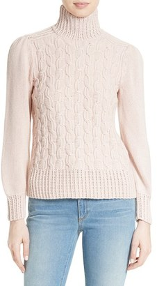 Women's La Vie Rebecca Taylor Cable Knit Turtleneck Sweater $325 thestylecure.com