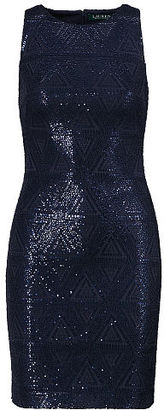 Ralph Lauren Lauren Sequined Sheath Dress $195 thestylecure.com