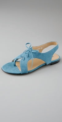 Opening Ceremony Suede Lace Up Sandal