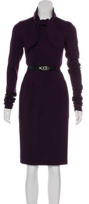 Chanel Belted Wool Dress