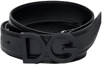 Dolce & Gabbana 30mm Rubberized Leather Belt