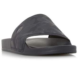 Dune Navy 'Heath' Camo Sliders Sandals