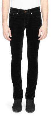 Saint Laurent Sueded Boot-Cut Jeans